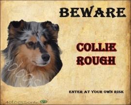 Waakbord Collie Rough Blue Merle (Engels). OP=OP