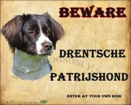 Waakbord Drentsche Patrijs Hond