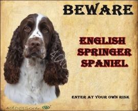 Waakbord Engelse Springer Spaniel (Engels) Per set van 2 waakborden UITVERKOCHT