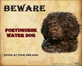 Waakbord Portugese water hond Bruin (Engels) OP=OP