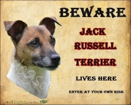Waakbord Jack Russell Terrier Glad Haar OP=OP