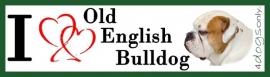 I LOVE Old Englis Bulldog Rood Bont OP=OP