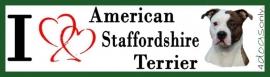 I LOVE American Staffordshire Terrier Gestroomd OP=OP