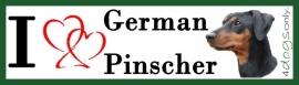 I LOVE German Pinscher / Duitse Pinscher Black and Tan OP=OP