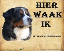 Waakbord Berner Sennen (01) (Nederlands). (UITVERKOCHT)