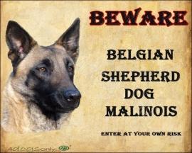 Waakbord Mechelse Herder / Belgian Shepherd Malinois (UITVERKOCHT)