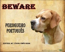 Waakbord Perdigueiro Portugues (Engels). Per set van 2 waakborden UITVERKOCHT