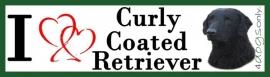 I LOVE Culry Coated Retriever Zwart OP=OP