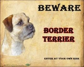 Waakbord Border Terrier Engels. OP=OP
