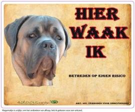 Waakbord Cane Corso Formentino (Nederlands).  (UITVERKOCHT)