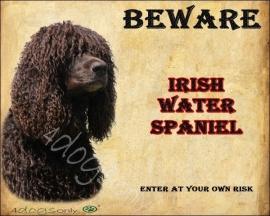 Waakbord Ierse Water Spaniel Bruin (Engels).OP=OP