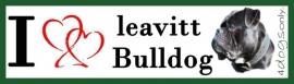 I LOVE Leavitt Bulldog Zwart / Black OP=OP