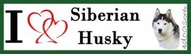 I LOVE Siberian Husky Grijs OP=OP