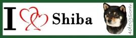 I LOVE Shiba Inu Black & Tan UITVERKOCHT