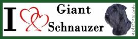 I LOVE Giant Schnauzer / Riesenschnauzer OP=OP