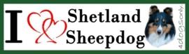 I LOVE Shetland Sheepdog / Shelti Zwart OP=OP