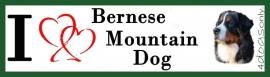 I LOVE Berner Sennen / Bernese Mountain Dog UITVERKOCHT