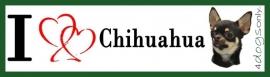 I LOVE Chihuahua Zwart UITVERKOCHT
