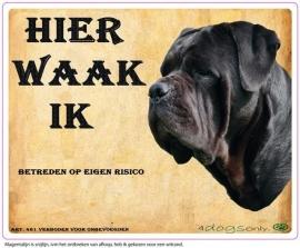 Waakbord Cane Corso Zwart (02) (Nederlands). Per set van 2 waakborden UITVERKOCHT