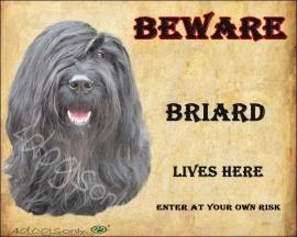 Waakbord Briard Zwart Per set van 2 waakborden