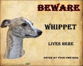 Waakbord Whippet. OP=OP