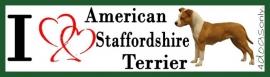 I LOVE American Stafford in Stand OP=OP