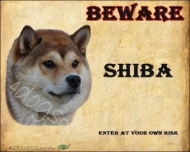 waakbord Shiba Inu Sesam Per set van 2 waakborden UITVERKOCHT