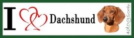 I LOVE Dachshund Rood / Teckel OP=OP