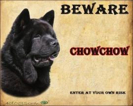 Waakbord Chow Chow Zwart Kortharig OP=OP