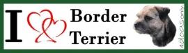 I LOVE Border Terrier Blue OP=OP