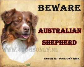 Waakbord Australian Shepherd Bruin. OP=OP