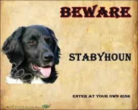 Waakbord Stabyhoun (Engels) OP=OP