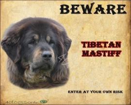 Waakbord Tibetan Mastiff (Engels) 02.  UITVERKOCHT