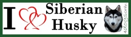 I LOVE Siberian Husky Zwart OP=OP