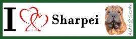 I LOVE Sharpei Rood NIEUW OP=OP
