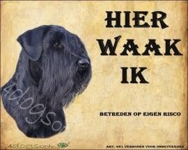 waakbord Riesenschnauzer / Giant Schnauzer Nederlands. per set  van 2 waakborden UITVERKOCHT