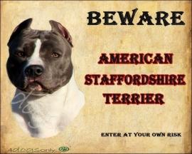 Waakbord American Staffordshire Terrier Blue  OP=OP