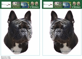 Franse Bulldog zwart setje 2 stuks