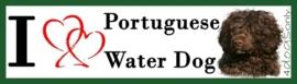I LOVE Portuguese Water Dog Bruin OP=OP