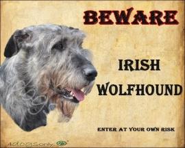waakbord Ierse Wolfshond / Irish Wolfhound OP=OP