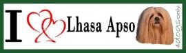 I LOVE Lhasa Apso Red / Rood UITVERKOCHT