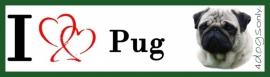 I LOVE Pug / Mops hond OP=OP