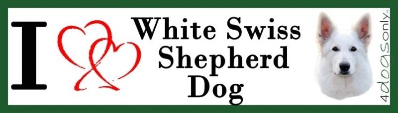 I LOVE Witte Herder / White Swiss Shepherd Dog OP=OP
