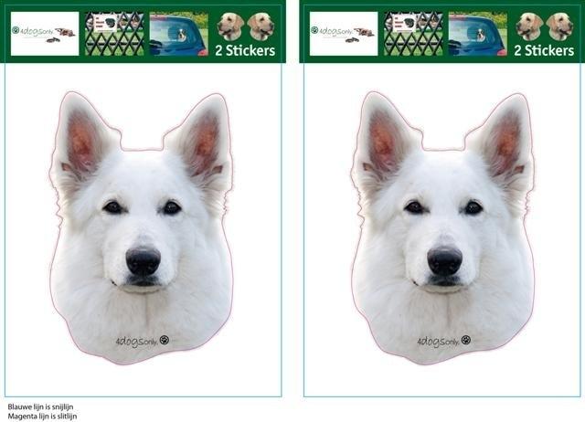 Witte Herder / White Swiss Sheperd Dog setje 2 stuks