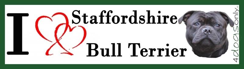 I LOVE English Staffordshire Bull Terrier Zwart OP=OP