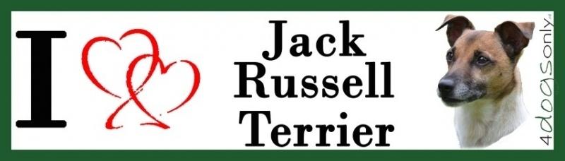 I LOVE Jack Russell Terrier Glad Haar OP=OP