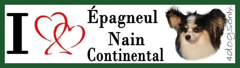 I LOVE Epagnuel Nain Continental / Vlinder hondje OP=OP