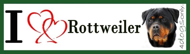 I Love Rottweiler 2 UITVERKOCHT