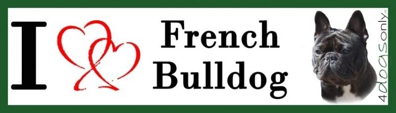 I LOVE Franse Bull Zwart UITVERKOCHT