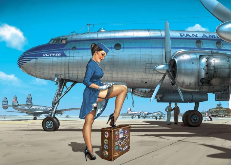 Romain Hugault: Pan Am, Metal Art Plate 1